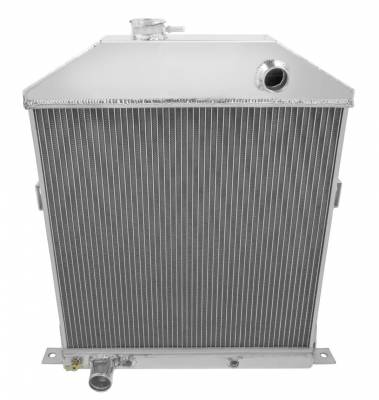 Champion Cooling Systems - Champion Cooling Three Row Aluminum Radiator for 1942 to 1948 Ford and Mercury CarsCC46FD