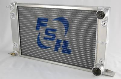 Cooling System - FSR - Scirocco Style Drag Car Aluminum Radiator Double Pass One Row for Chevy 9103-1