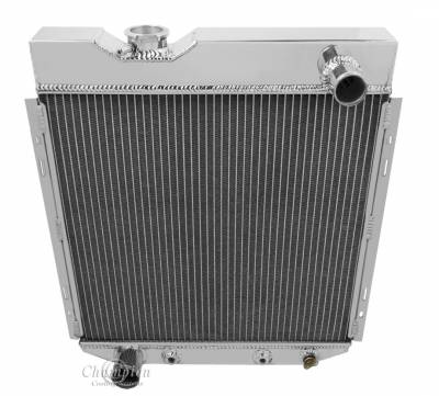 Champion Cooling Systems - Champion Cooling Four Row Aluminum Radiator for Ford Mustang Six Cylinder MC251