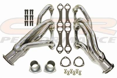 "CFR - Chevy Small Block Camaro/Chevelle/El Camino ""Shorty"" Headers-Chrome"
