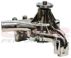 CFR - Chevy Small Block High Volume Long Water Pump 1969 to 1984 Polished - Image 1