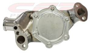 CFR - Chevy Small Block Water Pump 1955 to 1978 Chrome Finish - Image 2