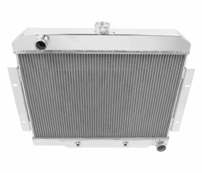 Champion Cooling Systems - Champion Cooling Two Row Aluminum Radiator 1973 - 1986 Jeep CJ with Chevy V8 EC1919