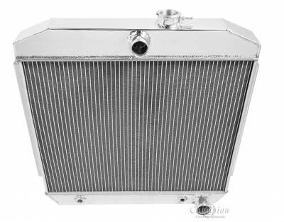 Radiators - Aluminum Radiators - Champion Cooling Systems - Champion Cooling Three or Four Row All Aluminum Radiator 1955 -1957 Chevy V8 CC5057