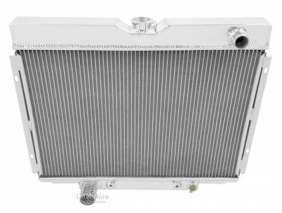 Champion Cooling Systems - Champion Cooling Four Row All Aluminum Radiator 1967-1970 Ford Mustang, Cougar MC379