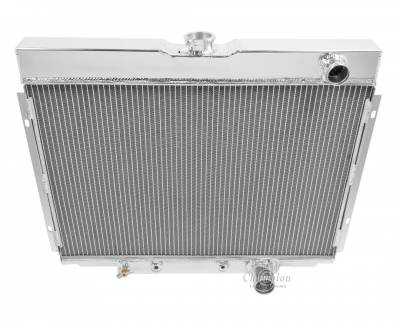 Champion Cooling Systems - Champion Two Row All Aluminum Radiator EC338 1967 to 1969 Ford Mustang, Cougar, Fairlane