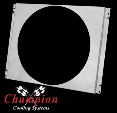Champion Cooling Systems - Aluminum Fan Shroud FS339/340