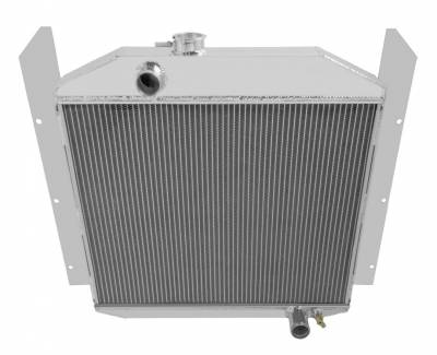 """Cooling System - American Eagle - American Eagle Radiator AE4952 Aluminum 2 Row for 49-52 Studebaker 1"""" tubes"""