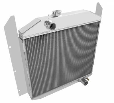 "American Eagle - American Eagle Radiator AE4952 Aluminum 2 Row for 49-52 Studebaker 1"" tubes - Image 2"