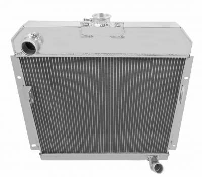 Radiators - Aluminum Radiators - American Eagle - American Eagle Radiator AE5354 Aluminum 2 Row fits 53-54 Dodge 6 cylinder or small V8