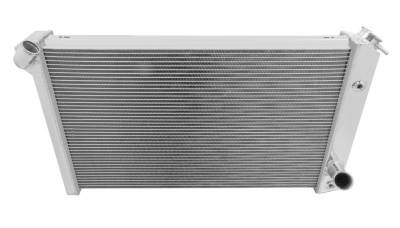 Radiators - Aluminum Radiators - American Eagle - American Eagle Radiator AE478 Aluminum 2 Row for 73-76 Corvette one inch tubes