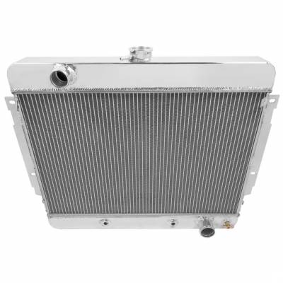 """Cooling System - American Eagle - American Eagle Radiator AE345 Aluminum 2 Row fits 69-70 Chevy Impala 1"""" tubes"""
