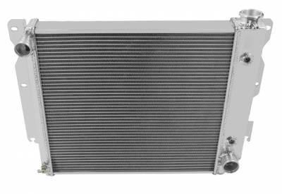 Champion Cooling Systems - Champion Three Row Aluminum Radiator CC8102 cross flow