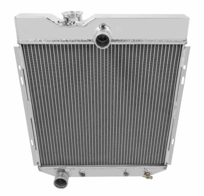 Champion Cooling Systems - Champion Three Row All Aluminum Radiator for 1966-1977 Ford Bronco 6cyl Conversion cc6677