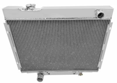 Champion Cooling Systems - Champion Three Row Aluminum Radiator CC2379 with fill neck on driverside