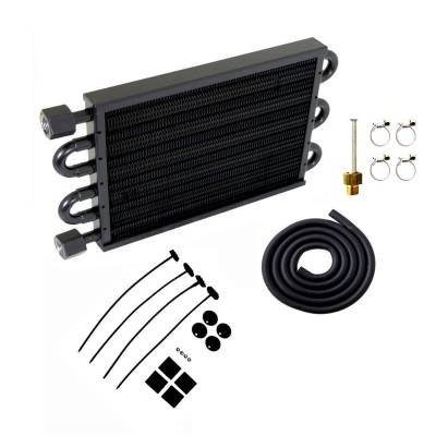 "Drive Train - Transmission Accessories - Big Dog Auto - TRANS OIL COOLER 7-1/2x12-3/4""-BLACK"