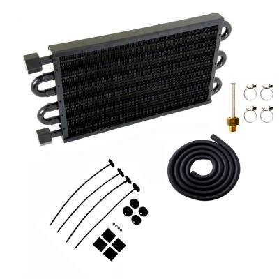 "Cooling System - Transmission Coolers - Big Dog Auto - TRANS OIL COOLER 7-1/2x15-1/2""-BLACK"