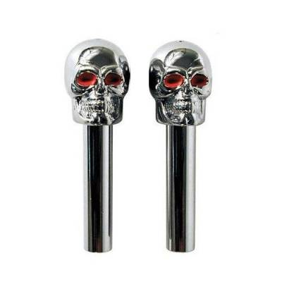 Big Dog Auto - Red Eye Skull Door Lock Knobs Universal for any Hot Rod Rat Rod Street Rod