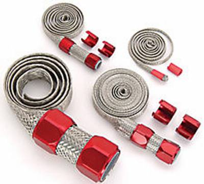 Engine Dress Up - Accessories - Big Dog Auto - Red Braided Hose Sleeve Kit
