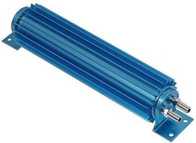 "Drive Train - Transmission Accessories - Big Dog Auto - 18"" Dual Pass Blue Anodized Aluminum Transmission Cooler"