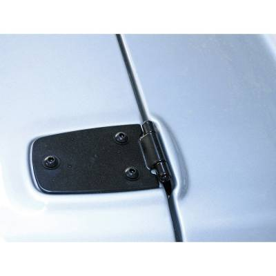 Exterior - Hood Hinges - Rugged Ridge - Hood Hinges, Black; 76-95 Jeep CJ/Wrangler YJ