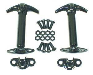 Exterior - Hood Pins and Latches - Rugged Ridge - Hood Catch Kit, Black; 42-95 Jeep CJ/Wrangler YJ