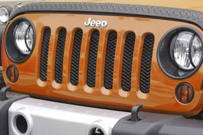 Exterior - Accessories - Rugged Ridge - Mesh Grille Insert, Black; 07-16 Jeep Wrangler JK