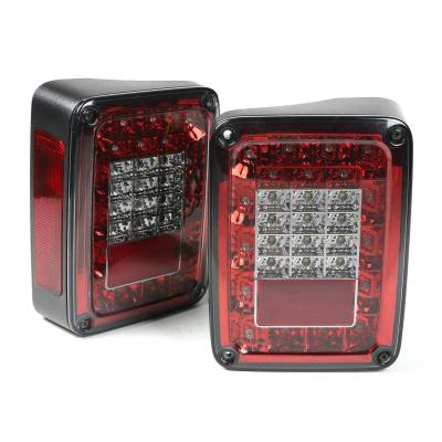 Exterior - Accessories - Rugged Ridge - LED Tail Light Set, Smoke; 07-16 Jeep Wrangler JK