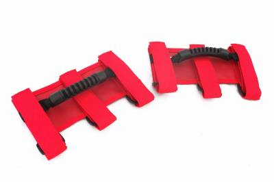 Interior Accessories - Handles and Cranks - Rugged Ridge - Ultimate Grab Handles, Red; 55-16 Jeep CJ/Wrangler YJ/TJ/JK