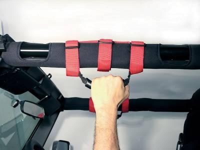 Rugged Ridge - Ultimate Grab Handles, Red; 55-16 Jeep CJ/Wrangler YJ/TJ/JK - Image 5