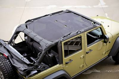 Offroad - Tops & Sunshades - Rugged Ridge - Eclipse Sun Shade, Black, 4 Door; 07-16 Jeep Wrangler JKU