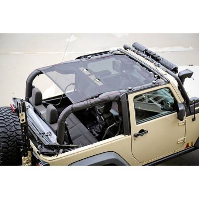 Exterior - Accessories - Rugged Ridge - Eclipse Sun Shade, Black, 2 Door; 07-16 Jeep Wrangler JK
