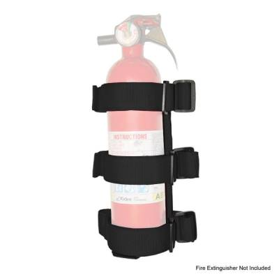 Interior Accessories - Knobs and Accessories - Rugged Ridge - Sport Bar Fire Extinguisher Holder, Black; 55-16 CJ/Wrangler YJ/TJ/JK