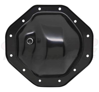 "Drive Train - CFR - 1974-UP DODGE/JEEP/MOPAR BLACK STEEL REAR DIFFERENTIAL COVER - 12 BOLT W/ 9.25"" RING GEAR"