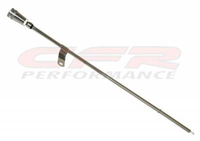 CFR - 1965-90 CHEVY BIG BLOCK ENGINE OIL DIPSTICK - CHROME W/ BILLET ALUMINUM HANDLE