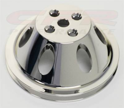 CFR - Chevy Big Block Chrome Aluminum Water Pump Pulley - Single Groove, Short