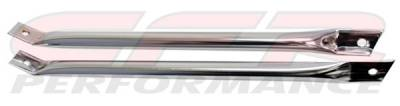 CFR - CHROME RADIATOR SUPPORT BARS - CAMARO/FIREBIRD 1967-69
