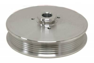 Engine - Pulleys & Brackets - RPC - Power Steering Pulley for 5.0 Mustang 1979 to 1993 Polished Billet Aluminum
