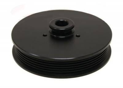 Engine - Pulleys & Brackets - RPC - Power Steering Pulley for 5.0 Mustang 1979 to 1993 Anodized Black Billet Aluminum