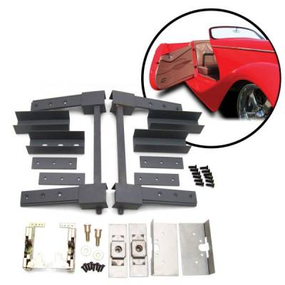 Door Kits - Suicide Door Kits - Autoloc - Two Door Pre-aligned Suicide Hidden Hinge System Superkit