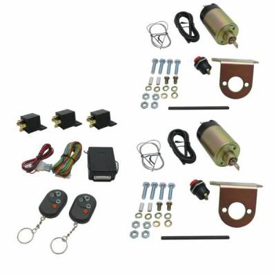Door Kits - Shaved Door Kits - Autoloc - 8 Function 35 - 50 lb. Remote Shaved Door Popper Kit
