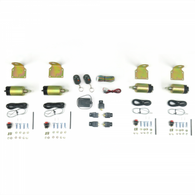 Door Kits - Shaved Door Kits - Autoloc - 8 Function 35 - 50 lb. Remote Shaved Door Popper Kit - Four Doors