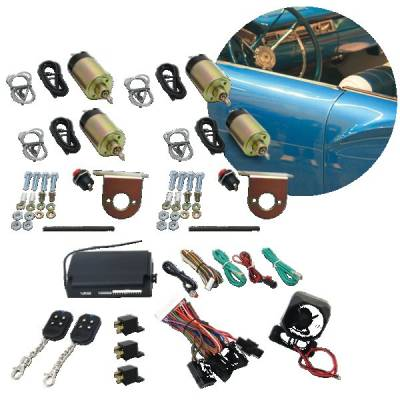 Door Kits - Shaved Door Kits - Autoloc - 8 Function 50 - 108  lb. Remote Shaved Door Popper Kit - Four Doors