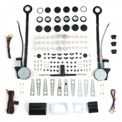 Autoloc - 2 Door Universal Power Window Kit with 3 Illuminated Switches