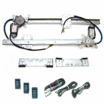 Autoloc - Flat Power Window Kit with 3 Switches