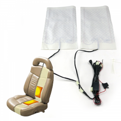 Interior Accessories - Heated Seat Kit - Carbon Fiber Heated Seat Kit with Switch and Plug-and-Play Harness - Two Seats