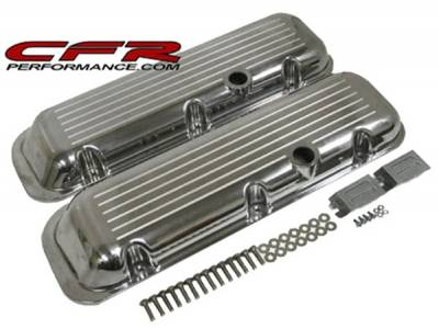 CFR - 1965-95 Chevy Big Block 396-427-454-502 Short Aluminum Ball-Milled Valve Covers