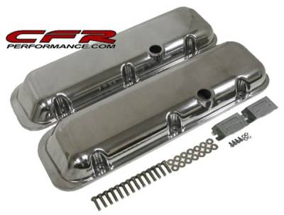 CFR - 1965-95 Chevy Big Block 396-427-454-502 Short Aluminum Smooth Billet Valve Covers