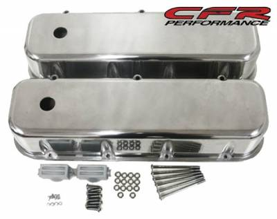 CFR - 1965-95 Chevy Big Block 396-427-454-502 Tall Aluminum Smooth Billet Valve Covers