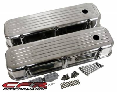 CFR - 1965-95 Chevy Big Block 396-427-454-502 Tall Aluminum Ball-Milled Billet Valve Covers